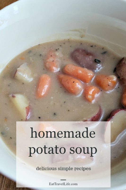 Love soup? This easy potato soup recipe is a recreation of a potato soup we ate while in Scotland. Perfect hearty dish your family will love
