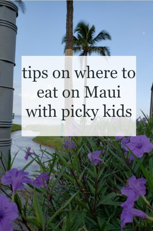 Do you have picky eaters while in Maui? Looking for family friendly places to eat on Maui? We are sharing places we aton our trip to Maui with kids.