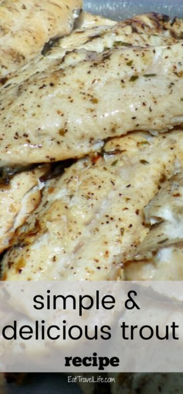 Give a shout for grilled trout! You will love this grilled trout recipe. It is made with lemon and tarragon. The hard part, is catching the fish.