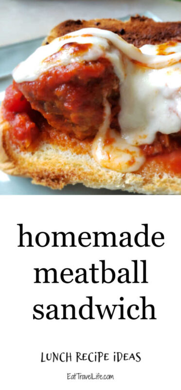 Have left over meatballs? You can easily make a meatball sub with this simple recipe. Enjoy the delicious meatballs with delicious melted cheese and sauce.