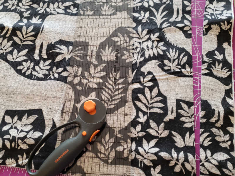 cutting upholstery fabric