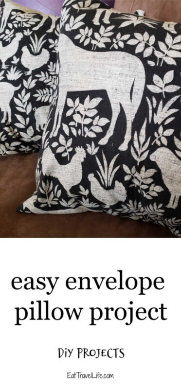 Make your own pillow covers! Pick your pattern and you can sew beautiful envelope pillow cases. Easy to do for a beginner sewing project.