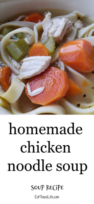 Ever want to make chicken noodle soup? This is an easy homemade recipe to make with leftovers. This is a tasty and easily recipe to make.