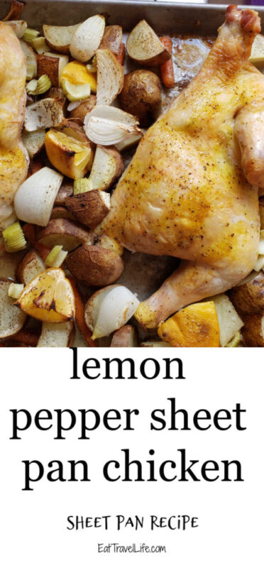 Do you love sheet pan meals? You need to try this sheet pan lemon chicken. Perfect dish to bake. The left overs are great for flavorful soup and sandwiches.