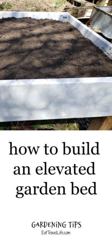 Do you want to garden, but not get on the ground? Consider making an elevated garden bed. This is inexpensive to make and not terribly hard to build.