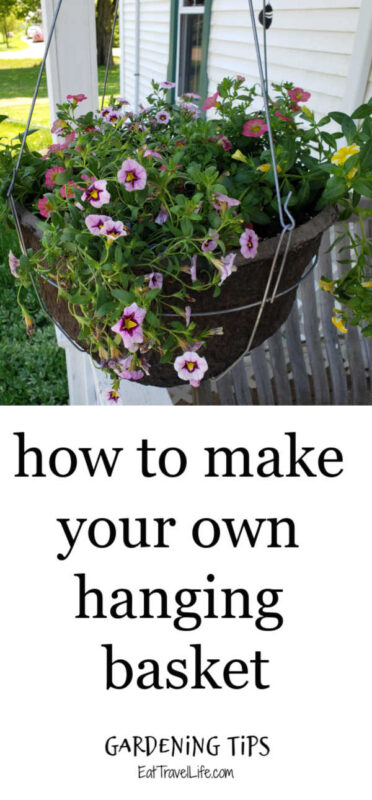 Tired of buying hanging flower baskets? You can make your own and save a lot of money. See how simple and easy it is with these easy steps to do it.