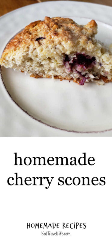 Make delicious cherry scone perfect for an appetizer or a tasty breakfast treat. We are using our freshly frozen cherries to make this tasty treat.