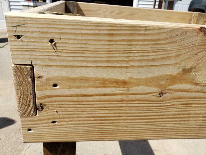 notched boards for garden