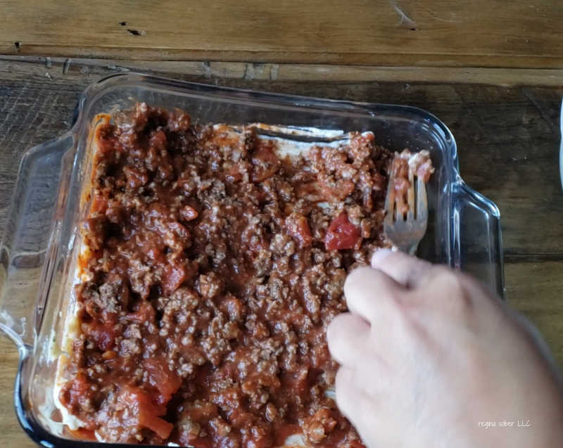 layering meat