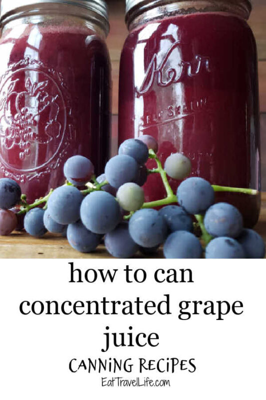 Learn how you can easily can concentrated grape juice. It's delicious and fresh and tastes delicious. What's not to love!?
