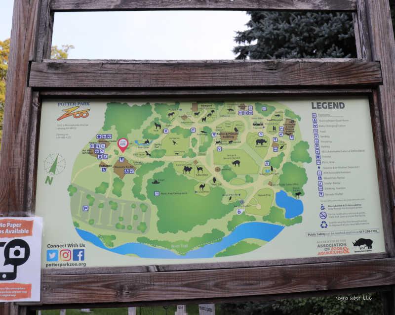 lansing zoo map