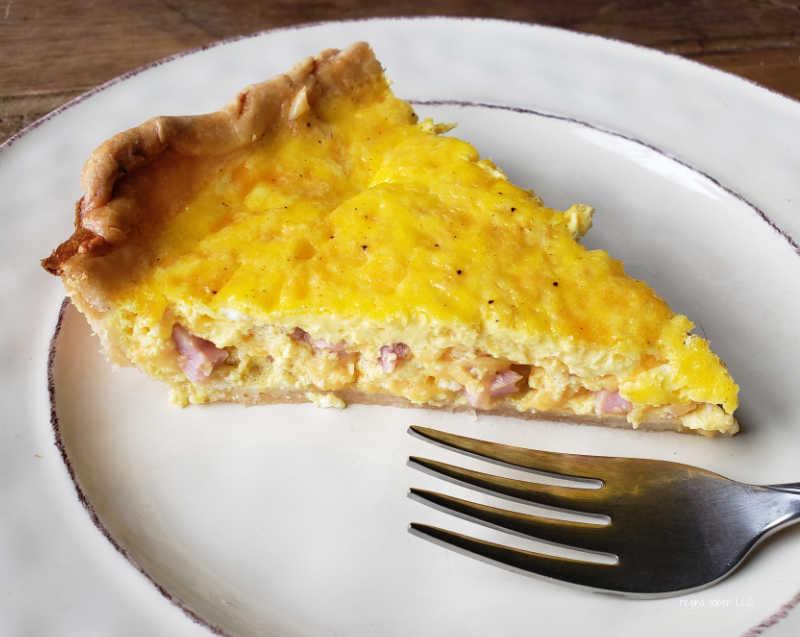 ham and egg quiche