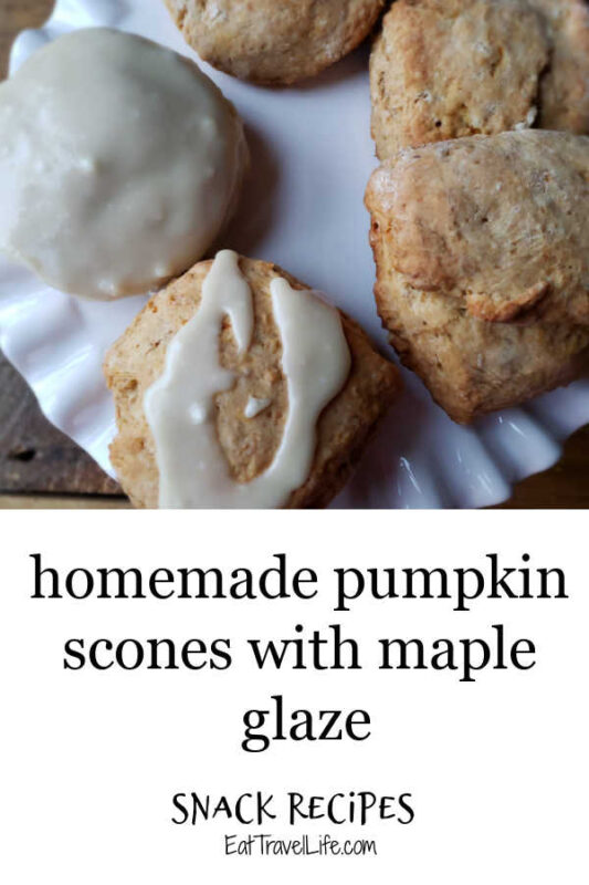 Add this to your must bake list this Fall. Enjoy a delicious pumpkin scone served with maple glaze. Perfect for your savory and sweet treats.
