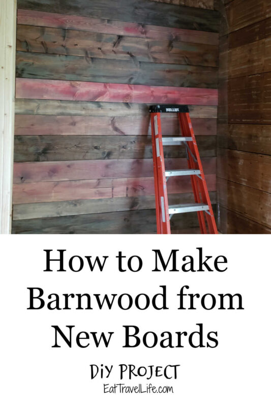 Want barn wood? We wrote how to take new boards and giving them the old barn wood look. Homemade barn wood can be done and look awesome.