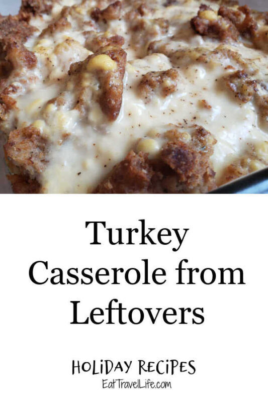 Got left over turkey from the holidays? You can make a simple and easy turkey casserole from leftovers. You just need a few ingredients.