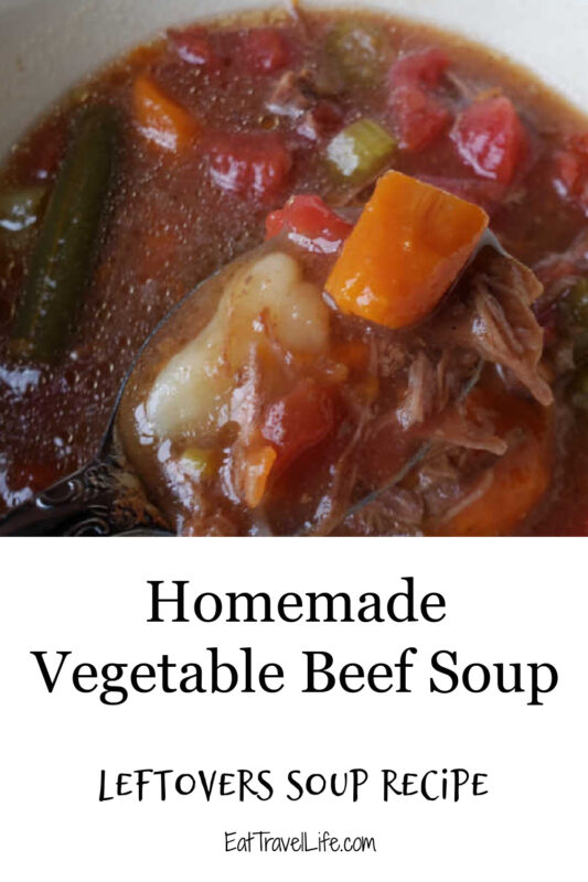 Need ideas for leftovers? Here's a easy vegetable beef soup recipe you can make with or without leftovers. It's easy, simple & delicious.