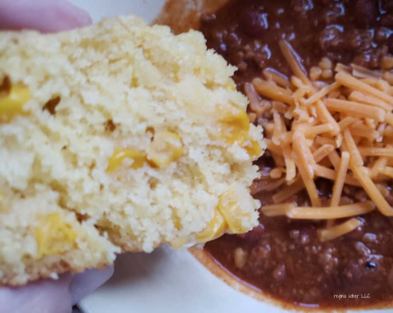 cornbread with chili