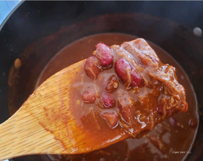 cooked chuck roast chili