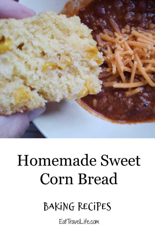 Do you love cornbread? Make the best sweet cornbread recipe here. It's got corn, a little sweet and a great side dish to any meal.