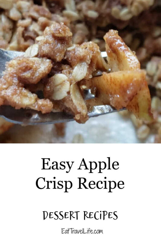 Delicious and easy apple crisp. Taste the crunch from the topping, the sweet apples for a sweet treat for any holiday, Enjoy year round!
