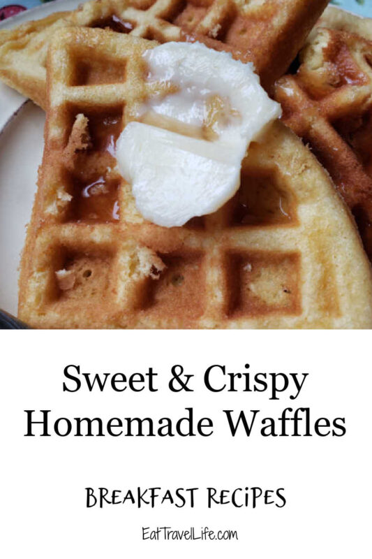 The best crispy waffles are a little sweet and crisp. Add these homemade waffles to your breakfast rotation and you won't be disappointed.