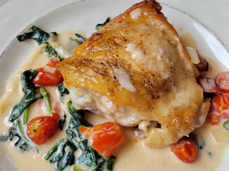 chicken thigh dinner