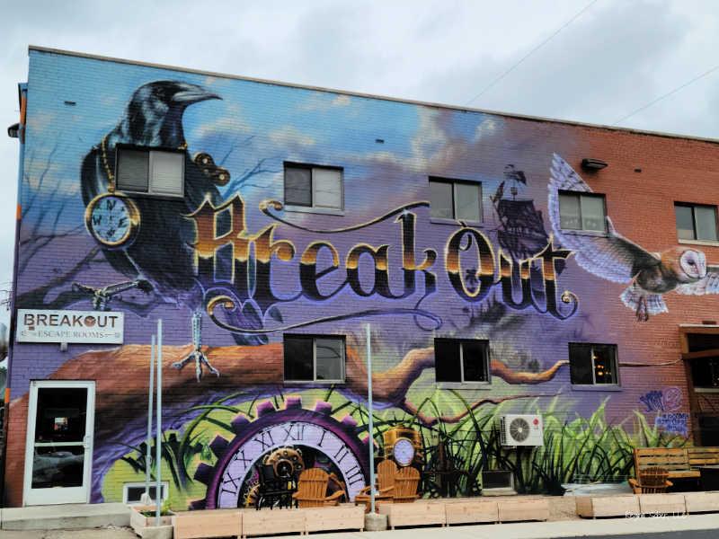 street art Breakout Mural Lansing Michigan