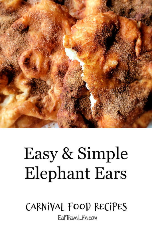 Love carnival food? You can make easy elephant ears at home whenever you want. Enjoy fair food, without going to the fair. Read how.