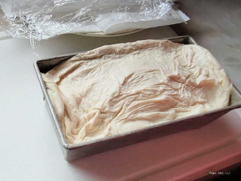 thawed bread dough