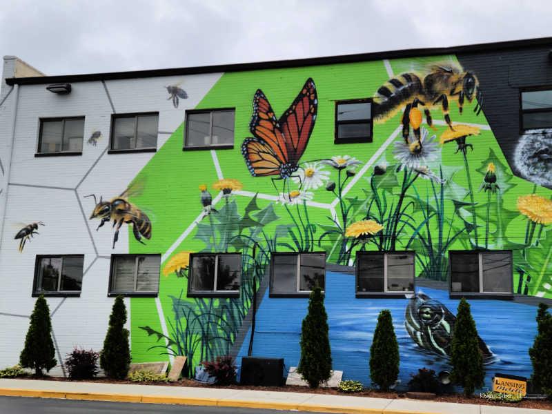The Hive Mural Lansing Michigan