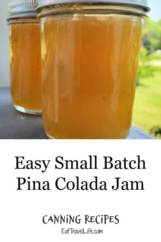 Make this small batch pina colada jam. Enjoy a variety of jams and jellies when you make smaller quantities. Share with family and friends.