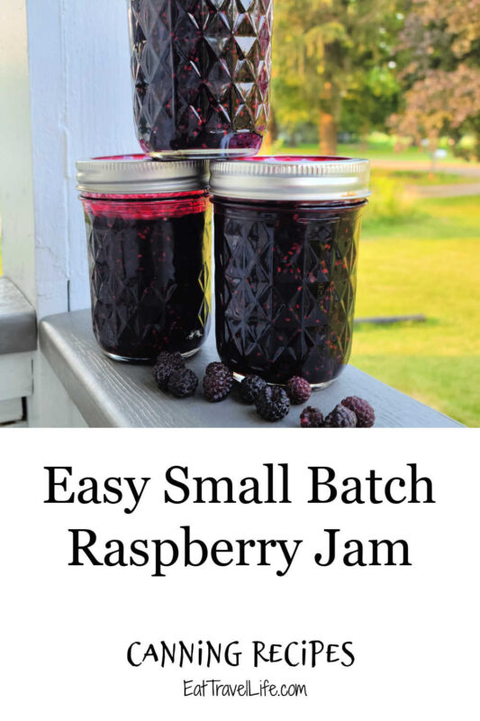 Love raspberry jam, but only want a few jars? Small batch canning is perfect to make a few jars. You can make wild, red or black raspberries.