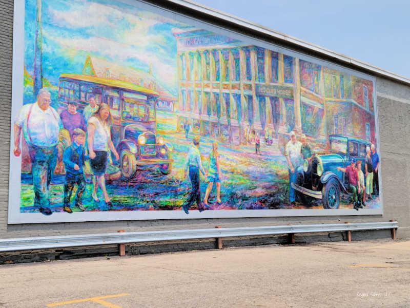RE Oldsmobile Mural