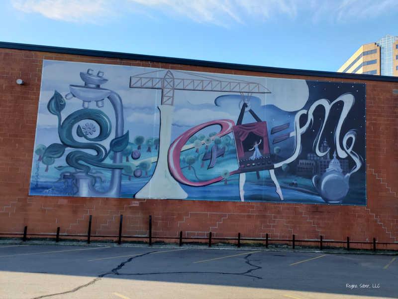 Riverfront Mural Lansing Michigan
