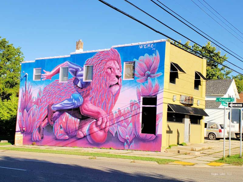 Lions Mural by WERC Lansing