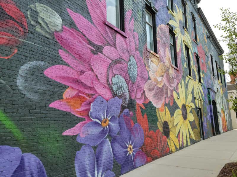 floral mural jackson