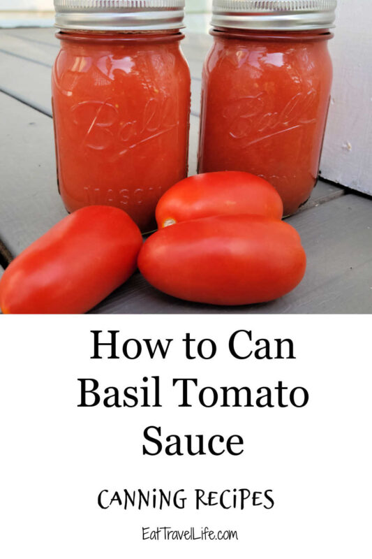 A delicious small batch canning recipe for tomato sauce. Made with basil to add flavor. Great way to start your next meal with fresh veggies.