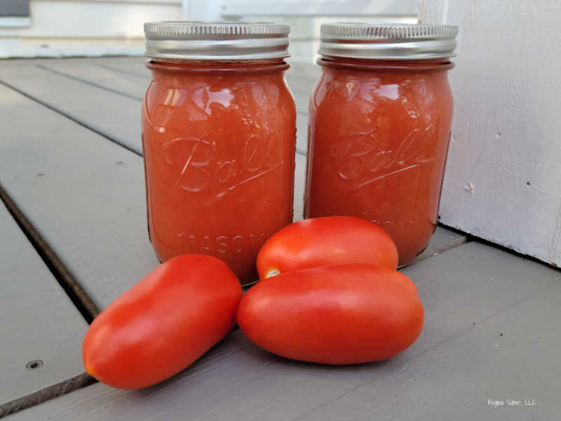 canned tomato sauce